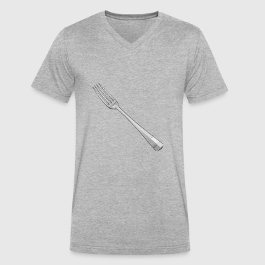 fork - Men's V-Neck T-Shirt by Canvas