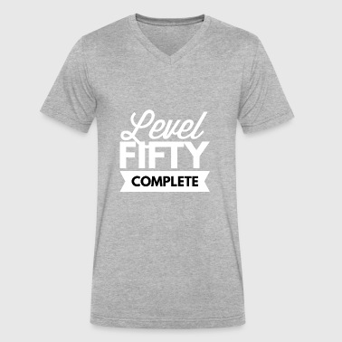 Level 50 Complete Level 50 complete - Men's V-Neck T-Shirt by Canvas