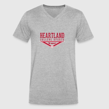 Heartland College Sports logo - Men's V-Neck T-Shirt by Canvas