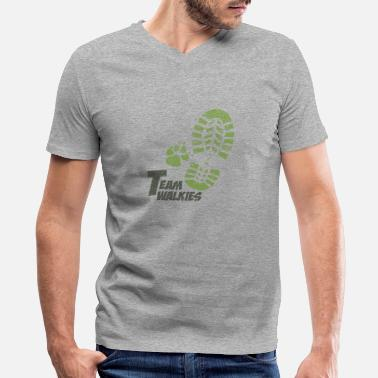 Green Team Team walkies green - Men's V-Neck T-Shirt by Canvas