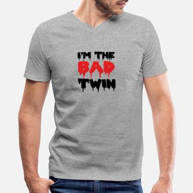 Good Evil Sister I'm The Bad Twin | Evil Twin Sister/Brother - Men's V-Neck T-Shirt by Canvas