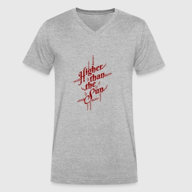 Higher Than The Sun Red - Men's V-Neck T-Shirt by Canvas