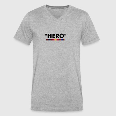 Pog Hero Parody - Men's V-Neck T-Shirt by Canvas