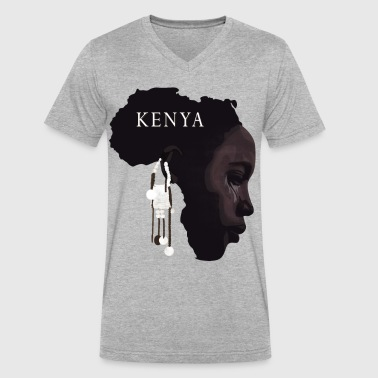 je suis kenya - Men's V-Neck T-Shirt by Canvas