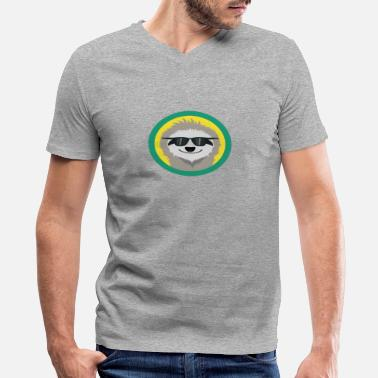 Sloth Sunglasses Cool Sloth with sunglasses - Men's V-Neck T-Shirt