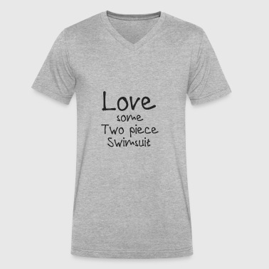 Two Piece Love Some Two Piece Swimsuit Shirt - Gift - Men's V-Neck T-Shirt by Canvas
