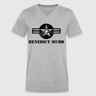 Gray Benedict Mudd - Men's V-Neck T-Shirt by Canvas