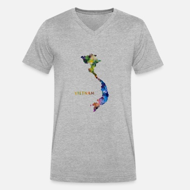 Vietnam Vintage Vietnam - Men's V-Neck T-Shirt by Canvas