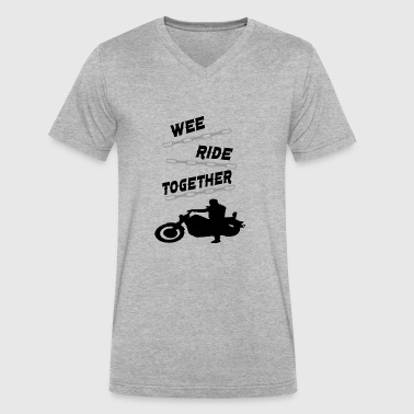 wee ride together - Men's V-Neck T-Shirt by Canvas