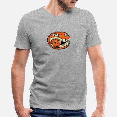 Cannibal pumpkin cannibal - Men's V-Neck T-Shirt by Canvas