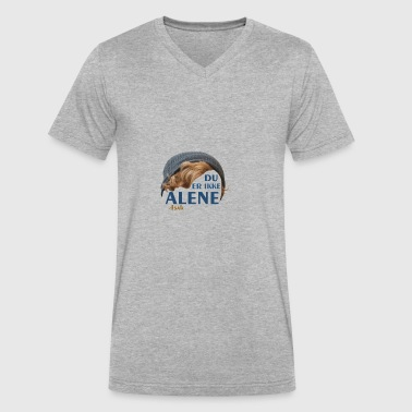 Du Er Ikke Du er ikke alene (Skam) - Men's V-Neck T-Shirt by Canvas