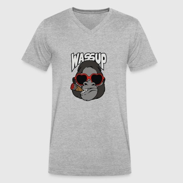 Wassup - Men's V-Neck T-Shirt by Canvas