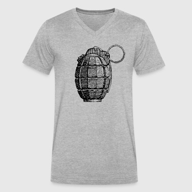 Hand Grenade - Men's V-Neck T-Shirt by Canvas
