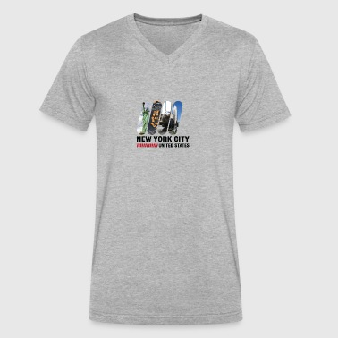 Cosmopolitan City New York City, USA - Men's V-Neck T-Shirt by Canvas