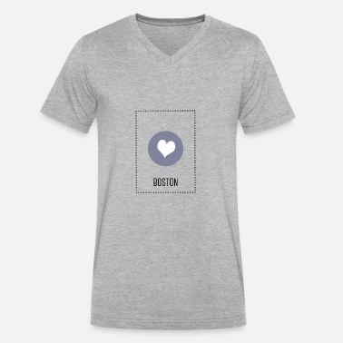 I Love Boston I Love Boston - Men's V-Neck T-Shirt by Canvas