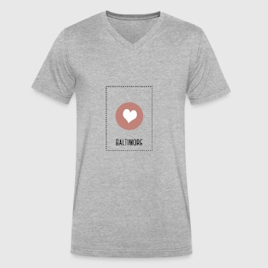 I Love Baltimore I Love Baltimore - Men's V-Neck T-Shirt by Canvas