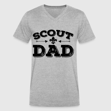 Scout Dad Shirt - Men's V-Neck T-Shirt by Canvas