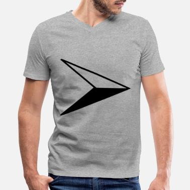 Symcolic Compass east arrow black - Men's V-Neck T-Shirt