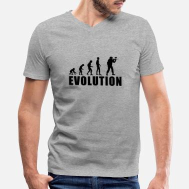 Evolution Of Paintball EVOLUTION PAINTBALL - Men's V-Neck T-Shirt