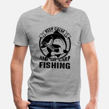 Carp Go Carp Fishing Shirt - Men's V-Neck T-Shirt
