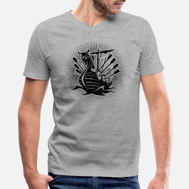 Scandinavia Viking ShipG - Men's V-Neck T-Shirt