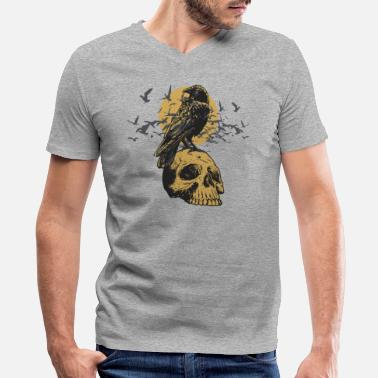Death Is Coming Death is Coming - Men's V-Neck T-Shirt by Canvas