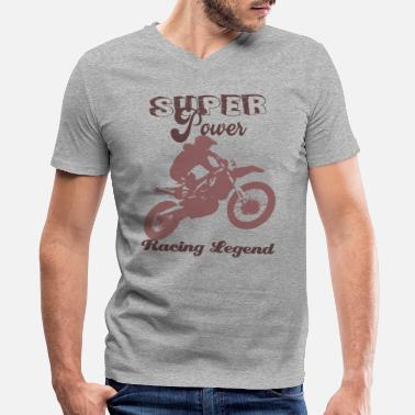 Power Sports Super power Racing Legend - gift powerful sport - Men's V-Neck T-Shirt by Canvas
