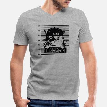 Mugshot Mugshot Cat - Men's V-Neck T-Shirt