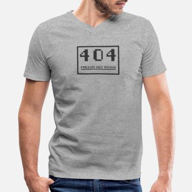 Page Not Found Person Not Found 404 - Men's V-Neck T-Shirt by Canvas