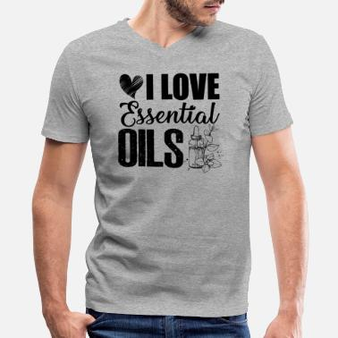I Love Essential Oils I love essential oils Shirt - Men's V-Neck T-Shirt by Canvas