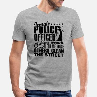 Female Police Officer Female Police Officer Shirt - Men's V-Neck T-Shirt