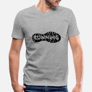 Marathon Running shoe - Men's V-Neck T-Shirt