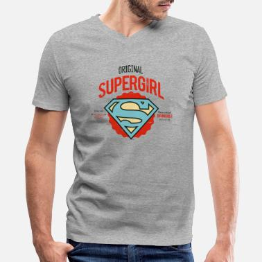 Supergirl DC Comics Logo Supergirl Problem Solver - Men's V-Neck T-Shirt