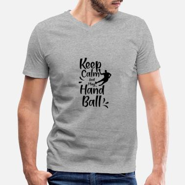 Handball Game Hand Ball Handball Match Handball Handballer Game - Men's V-Neck T-Shirt