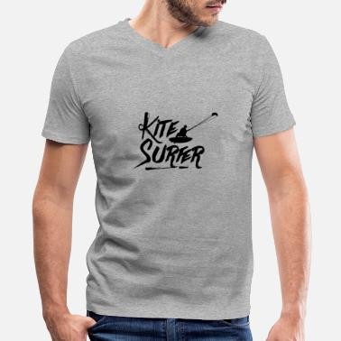 Kite Surfers Kite Kite Surfing Kite Surfer Kite Surfers Surfer - Men's V-Neck T-Shirt