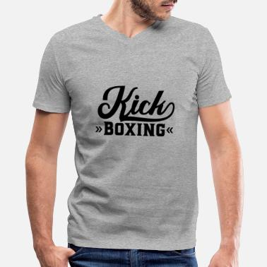 Kick Kick Boxer Martial Arts Kickboxing Kickboxer Fight - Men's V-Neck T-Shirt