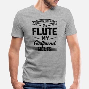 I Play Flute I Play The Flute Shirt - Men's V-Neck T-Shirt by Canvas
