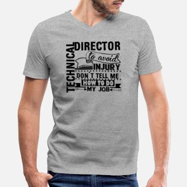 Technical Director Gift Technical Director Job Shirt - Men's V-Neck T-Shirt by Canvas