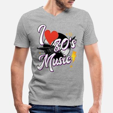 I Love The 80s I Love 80s Music - Men's V-Neck T-Shirt