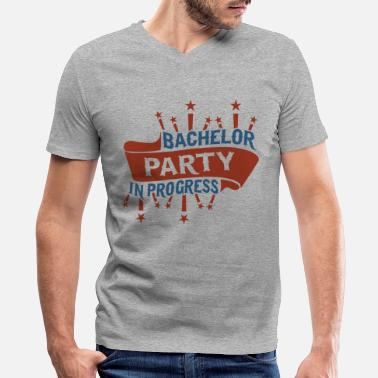 Celebrate Bachelor Party in Progress - Men's V-Neck T-Shirt