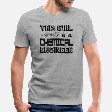 Chemical Engineer Girl Chemical Engineer Girl Shirt - Men's V-Neck T-Shirt by Canvas