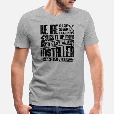 Carpet Installer Proud To Be An Installer Shirt - Men's V-Neck T-Shirt by Canvas
