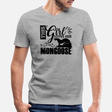 Mongoose This Girl Loves Mongoose Shirt - Men's V-Neck T-Shirt by Canvas