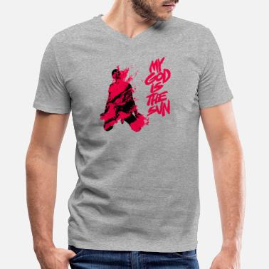 Stone QUEENS OF THE STONE AGE - Men's V-Neck T-Shirt by Canvas