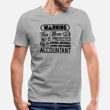 Accountant Mom Accountant Mom Shirt - Men's V-Neck T-Shirt by Canvas