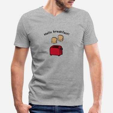 Food Breakfast Toast toaster breakfast food - Men's V-Neck T-Shirt by Canvas