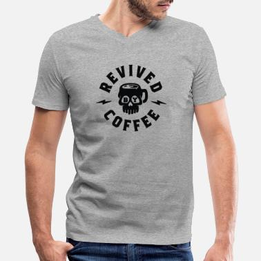 Revive Revived By Coffee - Men's V-Neck T-Shirt by Canvas