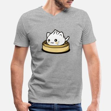 Dumpling Cat Dumpling - Men's V-Neck T-Shirt