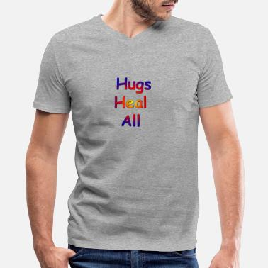 Healing Hugs heal all - Men's V-Neck T-Shirt