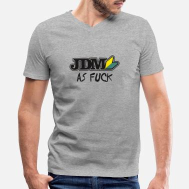 Rx8 JDM AS F*CK - Men's V-Neck T-Shirt by Canvas